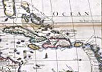 Map of West Indies