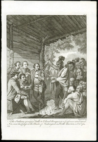 Indians Giving a Talk Print