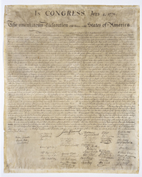 Engraved Copy Declaration of Independence